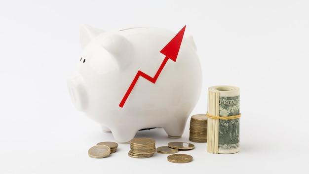 Goede persoonlijke economie en spaarvarken