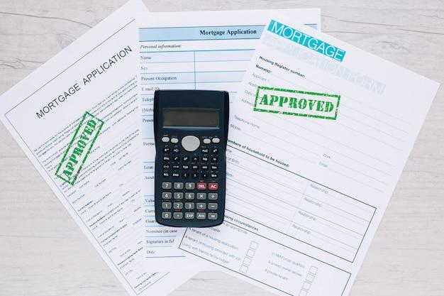 Goedgekeurde aanvraagformulieren voor kredietlening
