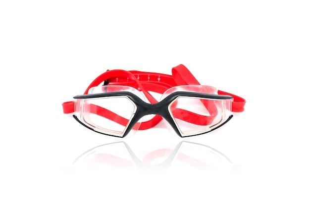 Goggles bril om te zwemmen geïsoleerd op een witte achtergrond