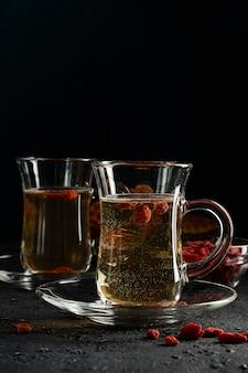 Goji-bessenthee, om het metabolisme te normaliseren, antioxidant. draagt bij aan gewichtsverlies
