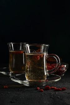 Goji-bessenthee, om het metabolisme te normaliseren, antioxidant. helpt de bloedsuikerspiegel te verlagen