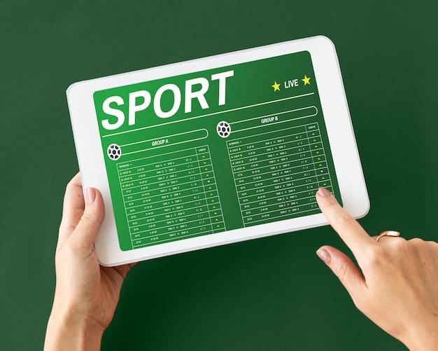 Gokken voetbalspel weddenschapsconcept