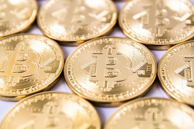 Golden bitcoins collectie