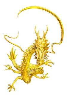 Golden dragon gelukkige leider komt naar u met familie en vrienden