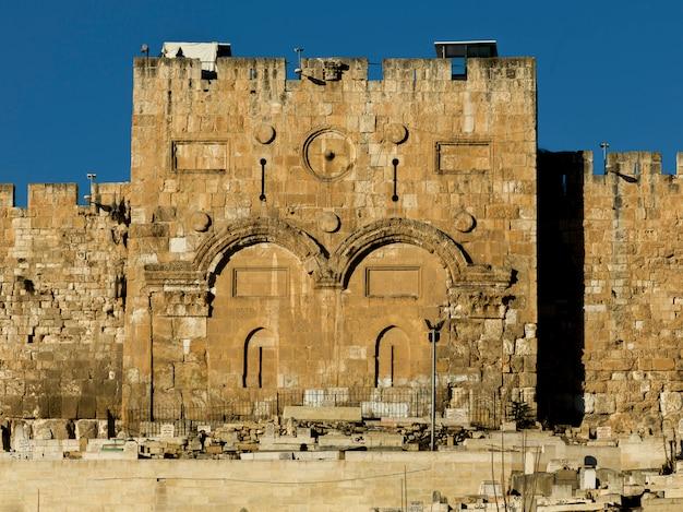 Golden gate, old city, jeruzalem, israël