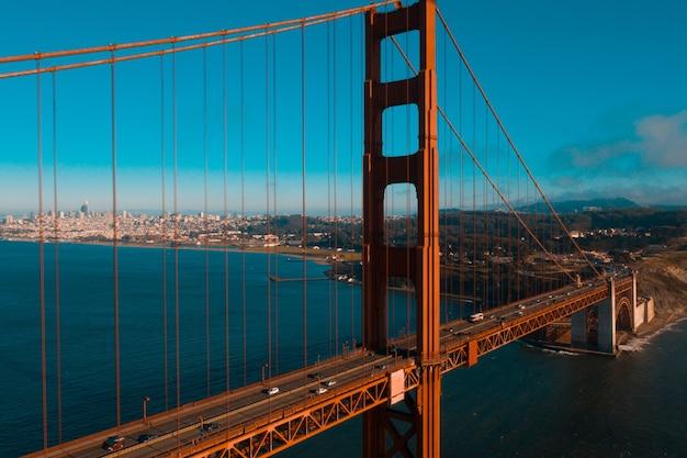 Golden gates bridge in san francisco, californië, vs vanaf marin headland