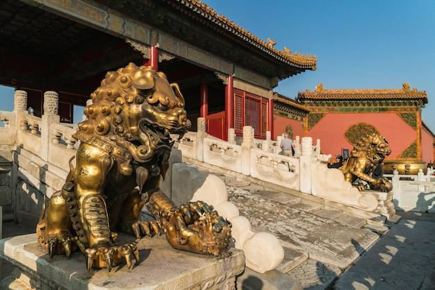 Golden lion.beijing, china verboden stad