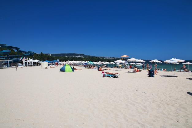 Golden sands-strand in varna, zwarte zeekust, bulgarije