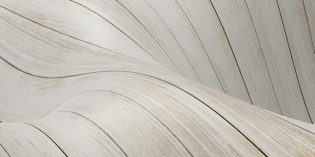 Golf van houten vloer gebogen plank abstracte achtergrond 3d illustratie