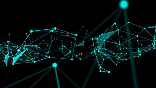 Golf van verbindingsnetwerkpunten van innovatieve creatie