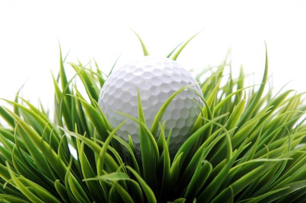 Golfbal in gras