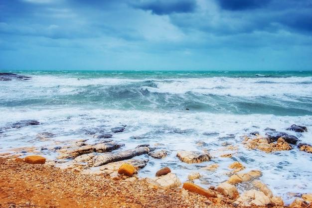 Golven op de zee landschap
