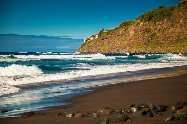 Golven op het strand playa el socorro