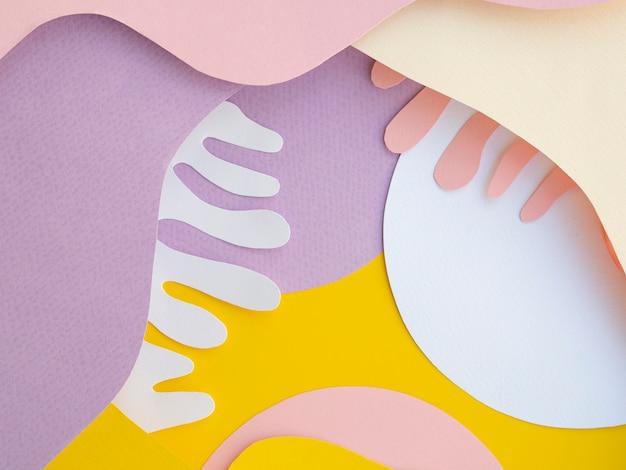 Golven van papier geometrische achtergrond