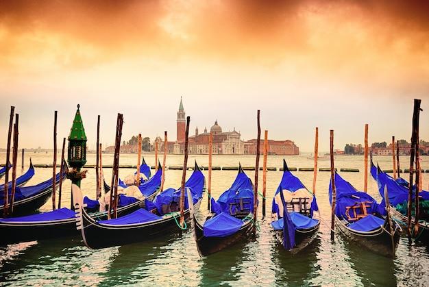 Gondels in venezia