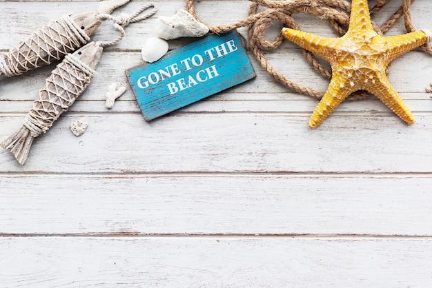 Gone to the beach zomervakantie vakantie starfish concept