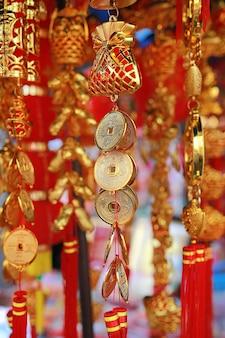 Goodluck-artikel te koop tijdens chinees nieuwjaar