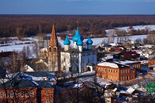 Gorokhovets in de winter. rusland