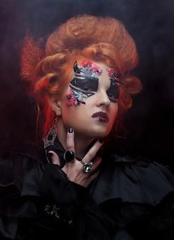 Gotische roodharige heks