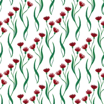 Gouache bloeit herhalend patroon.