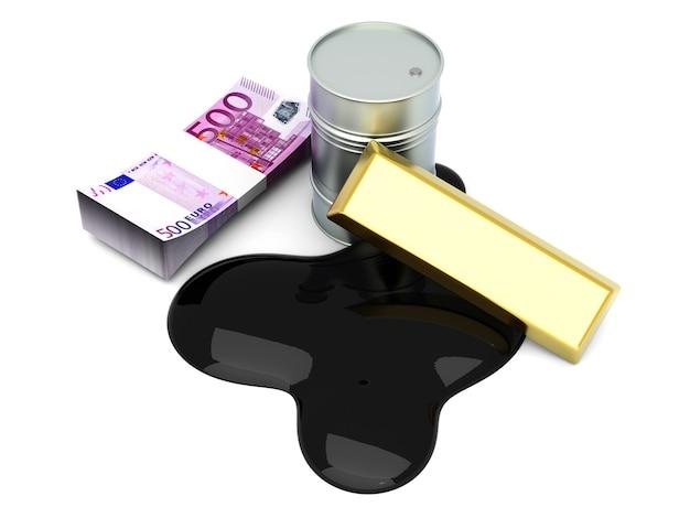 Goud en olie, twee grondstoffen op de aandelenmarkt.