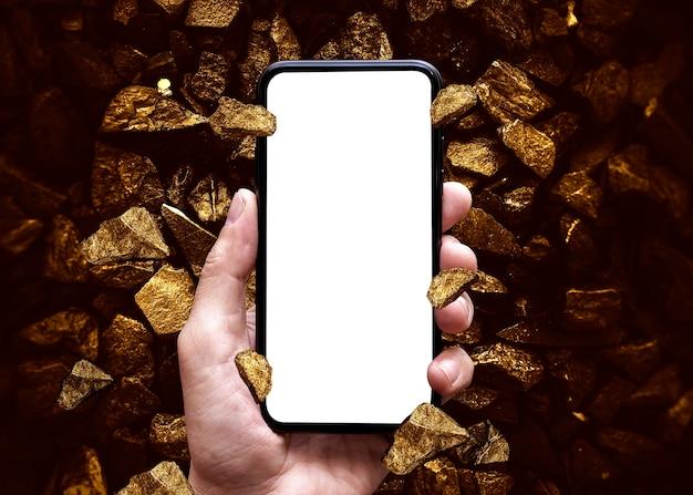 Goud handelsconcept