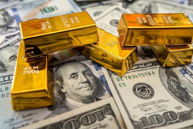 Goud met ons geld voor ontwerp van dichtbij. investering