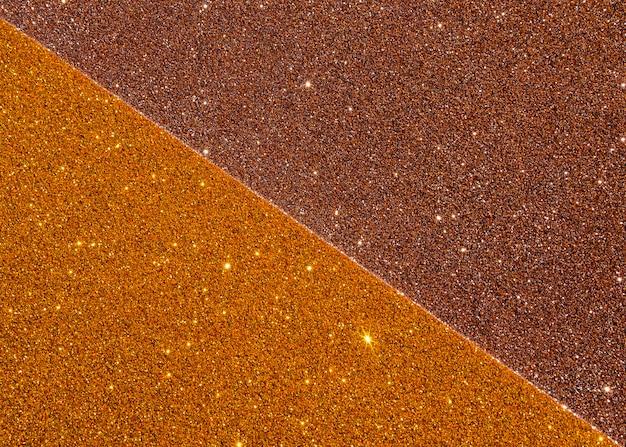 Goud metaal met glitters en kopie ruimte