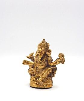Goud metallic glanzende ganesha heer van succes.