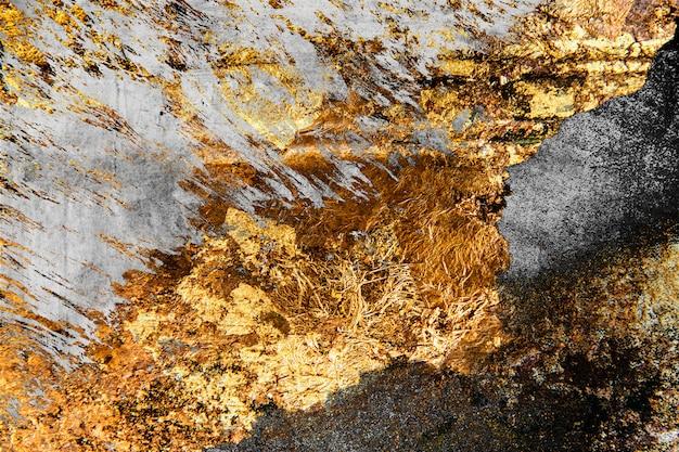 Goud op beton