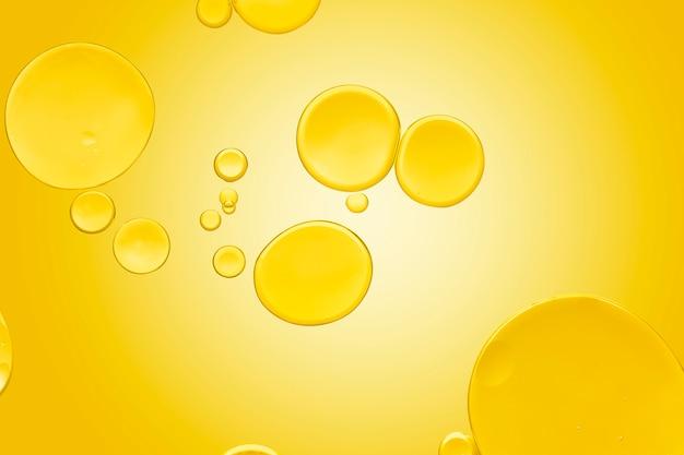 Gouden abstracte achtergrond abstracte olie bubble textuur behang