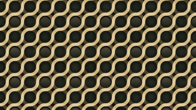 Gouden abstracte achtergrond met geometrisch golvenpatroon