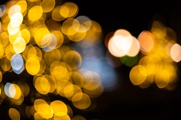 Gouden abstracte bokeh achtergrond