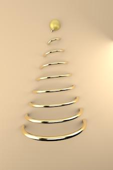 Gouden abstracte kerstboom