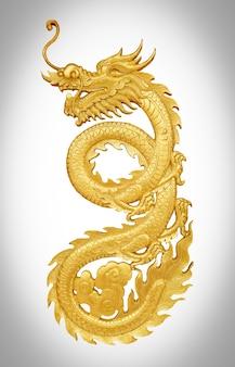 Gouden ambachtelijke draak