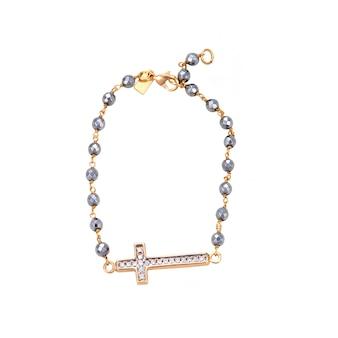 Gouden armband met een kruis geïsoleerd