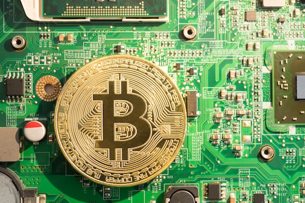 Gouden bitcoin cryptocurrency