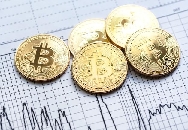 Gouden bitcoin mijnbouw cryptovaluta