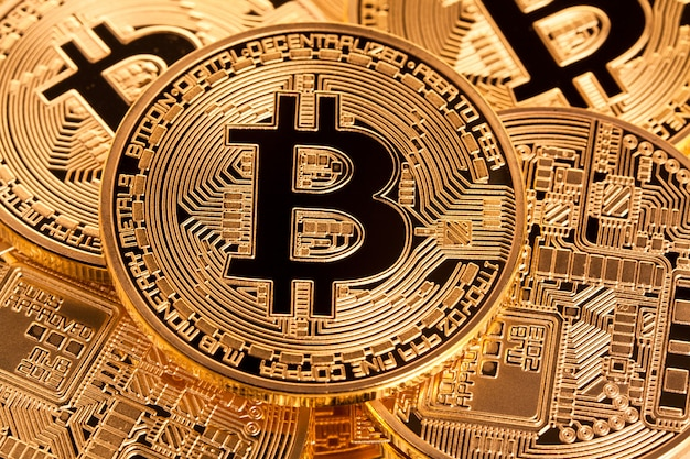 Gouden bitcoin munt