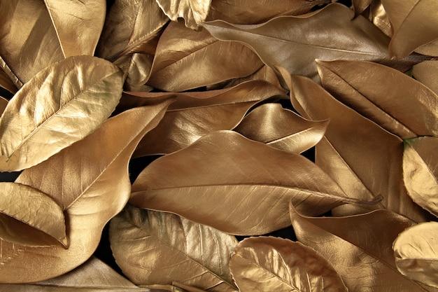 Gouden bladerenachtergrond
