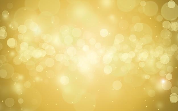 Gouden bokeh lichten