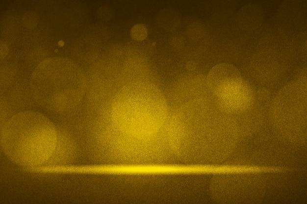 Gouden bokeh steekt productachtergrond aan