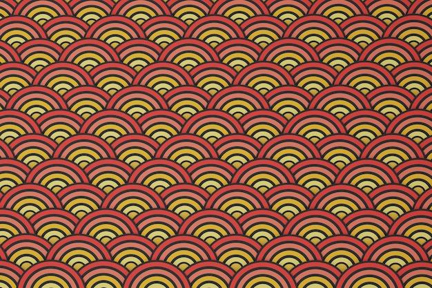 Gouden chinese patrooncollectie, abstracte achtergrond, decoratief behang. 3d render