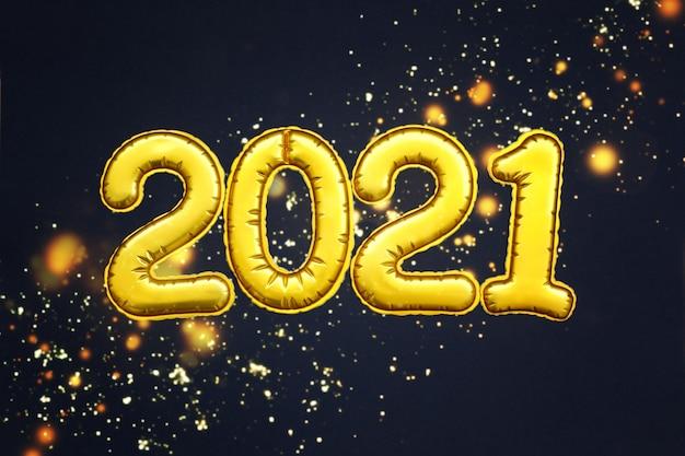 Gouden cijfers 2021-nummers van het gelukkig nieuwjaar