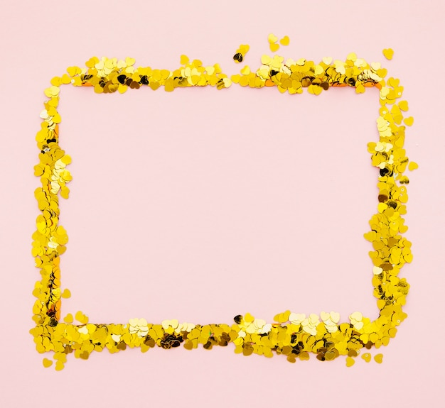 Gouden confetti vierkant frame