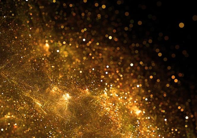 Gouden deeltje barsten achtergrond