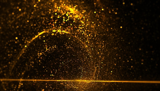 Gouden deeltjes barsten van energie in spiraalbeweging