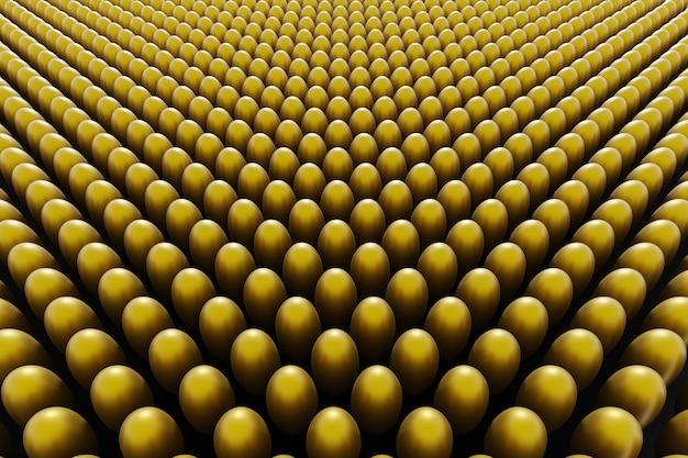 Gouden eieren op een zwarte achtergrond. 3d render pasen achtergrond.