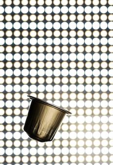 Gouden espressocapsule, koffiepads