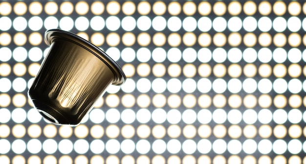 Gouden espressocapsule